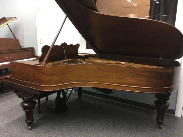 Back corner of piano