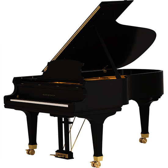 Black and Gold Mason Hamlin Piano