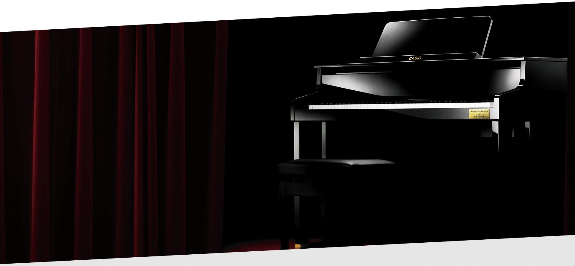 Concert piano black
