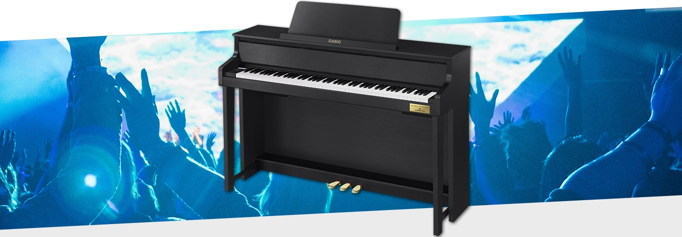 Black casio piano graphic