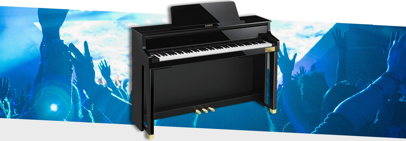 Black Piano Blue Graphic