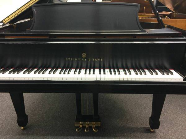 Black Steinway Piano Front
